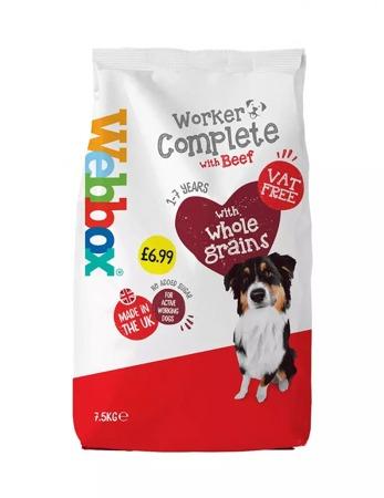 Webbox Working Dog Beef Complete Dry Food