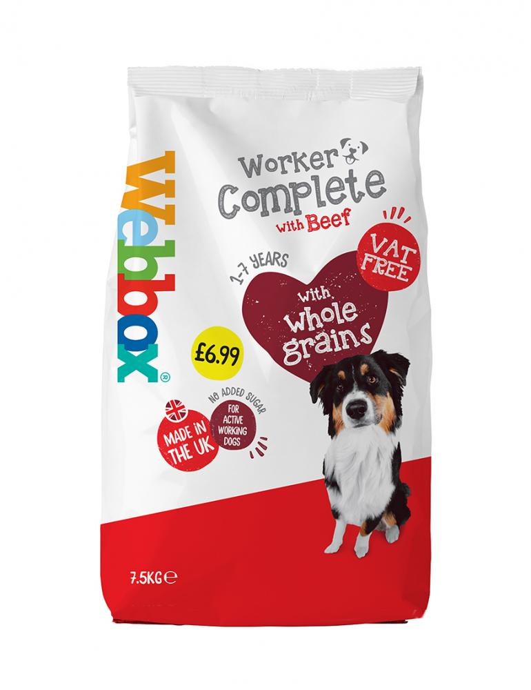 Webbox Working Dog Beef Complete Dry Food