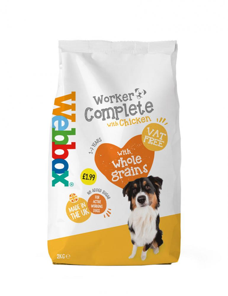 Webbox Working Dog Chicken Complete Dry Food