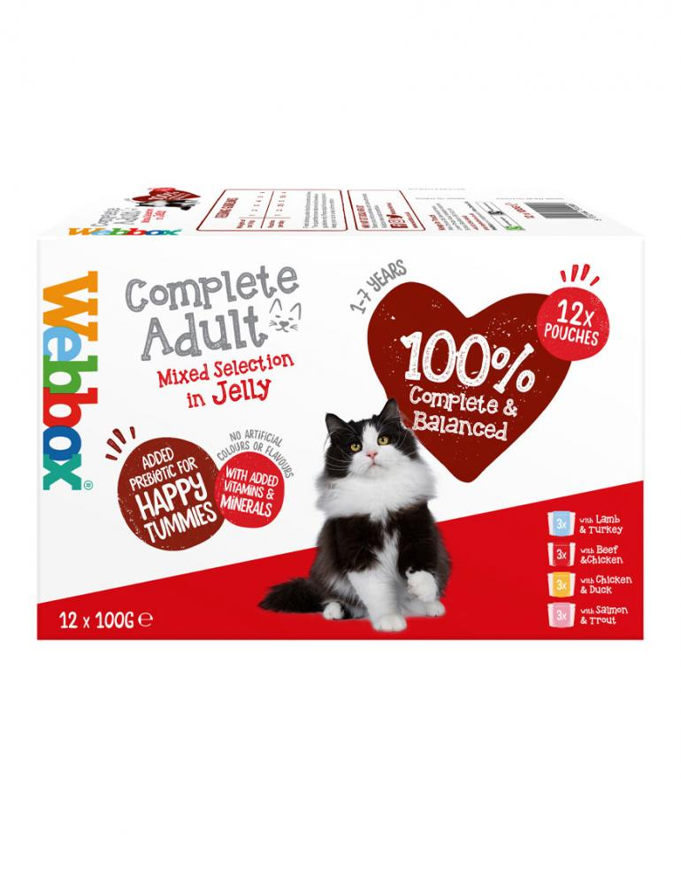 Webbox Cats Delight Mixed Selection in Jelly Wet Food