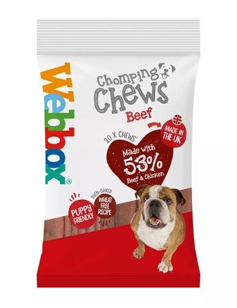 Webbox Meaty Chomping Chews Beef Dog Treats