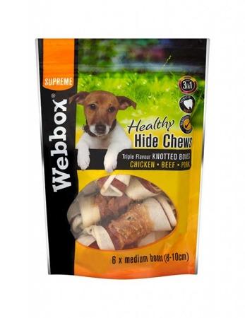Webbox Healthy Hide Chew Triple Flavour Dog Treats
