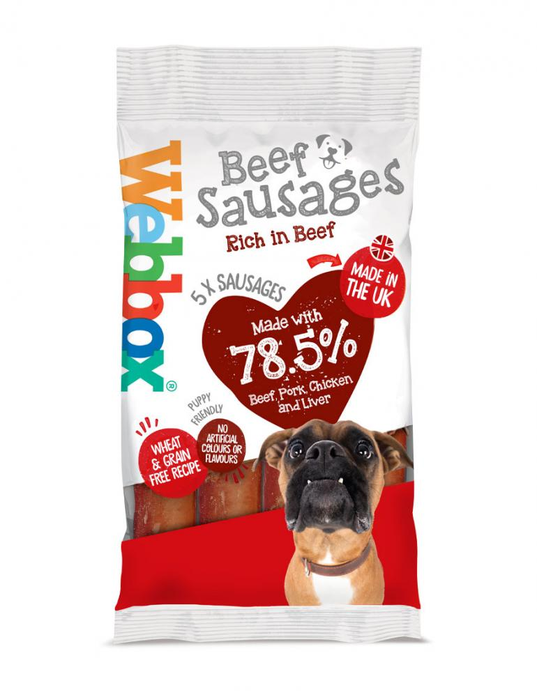 Webbox Meaty Beef Sausages Dog Treats