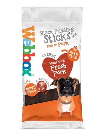 Webbox Meaty Black Pudding Sticks Dog Treats