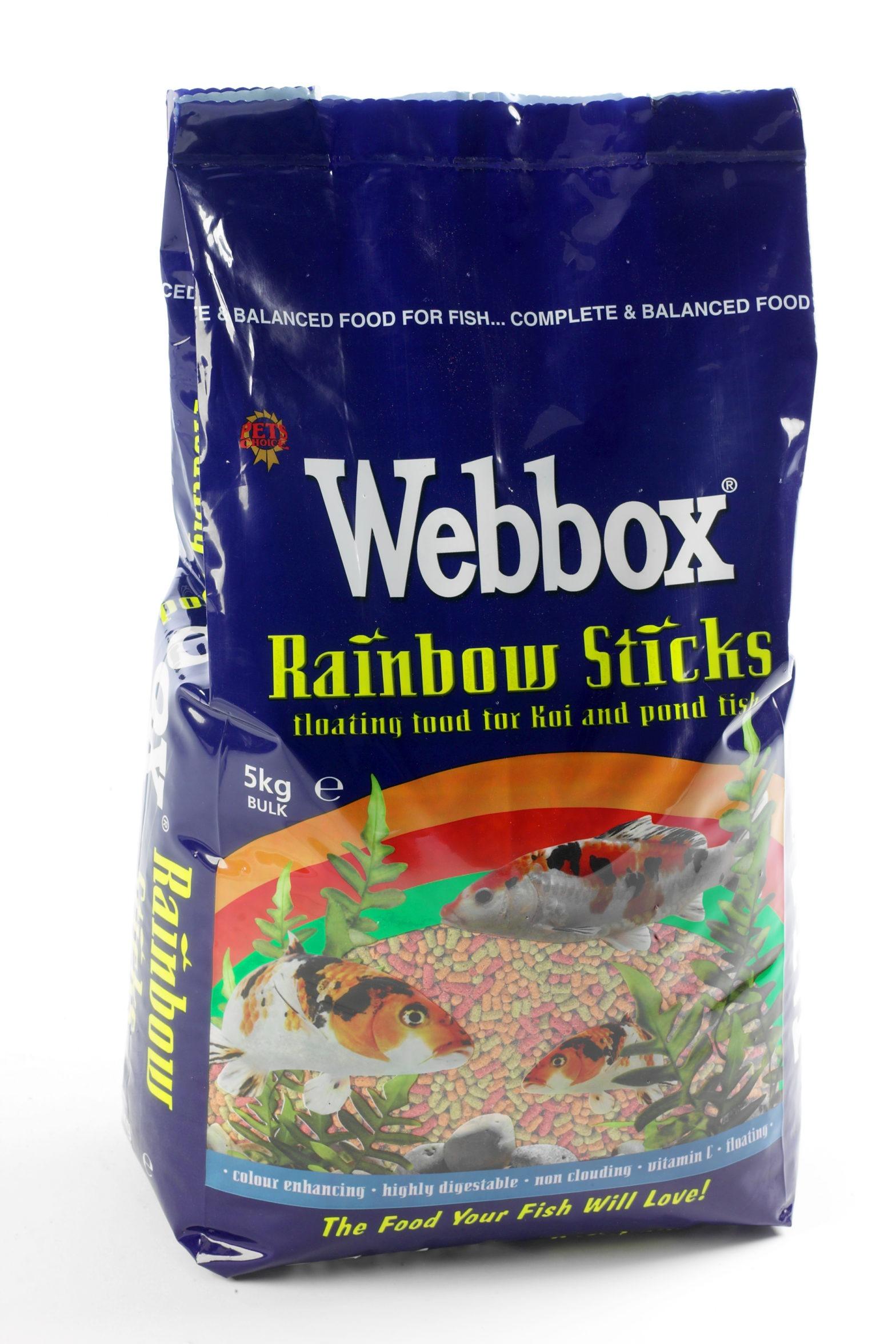Webbox Rainbow Sticks Fish Food