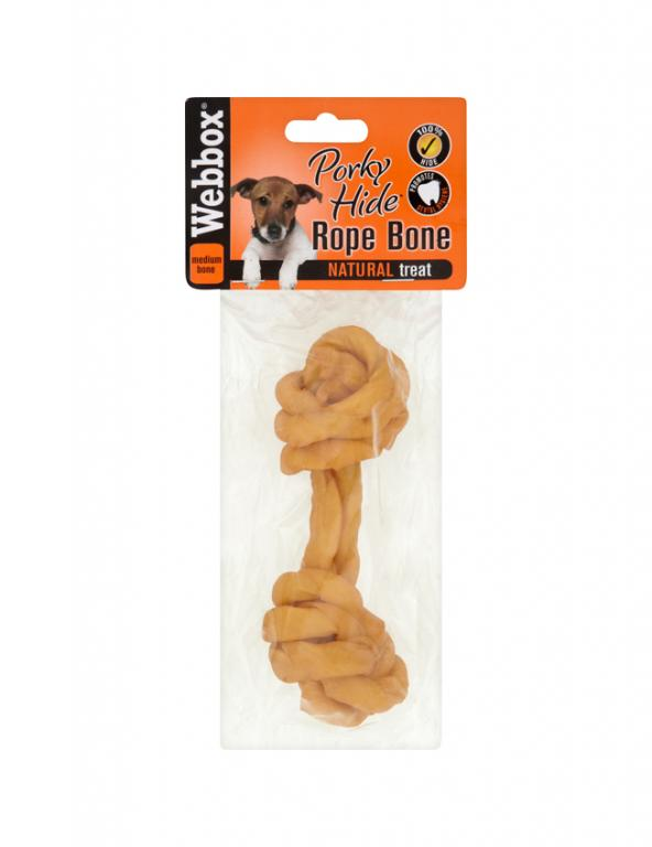 Webbox Hide Porky Rope Bone Dog Treats