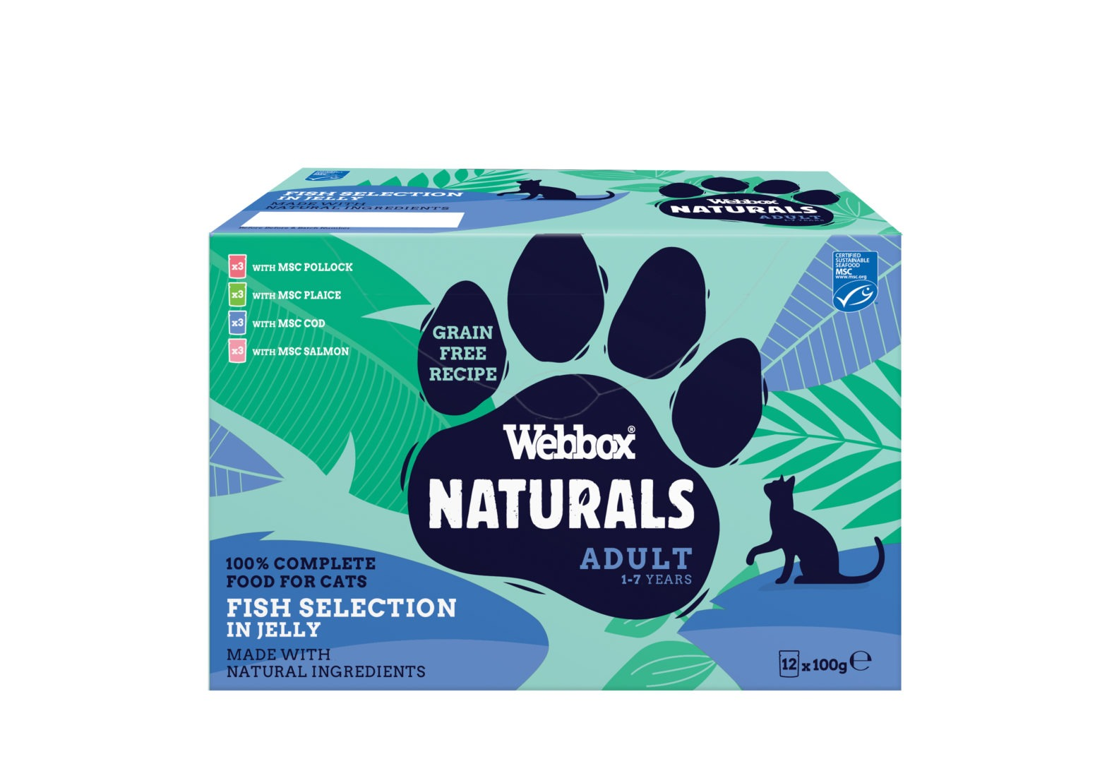 Webbox Naturals Fish in Jelly Wet Cat Food