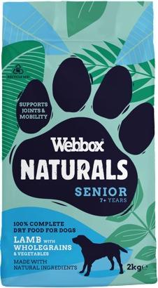 Webbox Naturals Lamb & Brown Rice Complete Dry Senior Dog Food