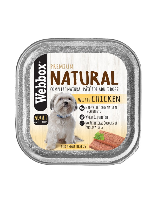 Webbox Natural Adult Chicken Pate Wet Dog Food