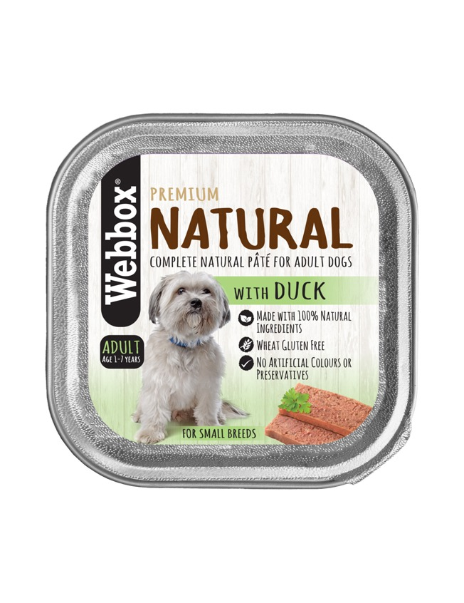 Webbox Natural Adult  Duck Pate Wet Dog Food – Single