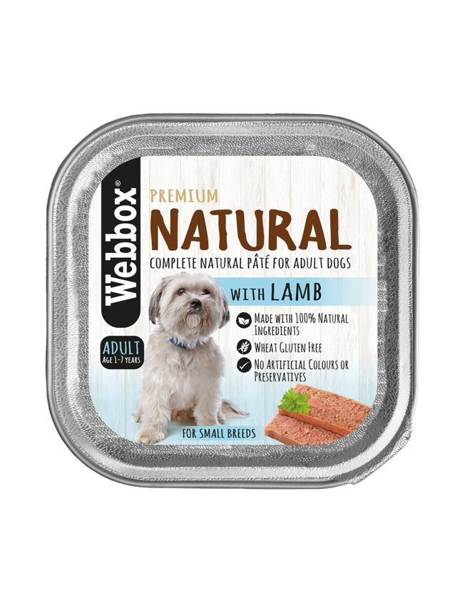 Webbox Natural Adult Lamb Pate Wet Dog Food