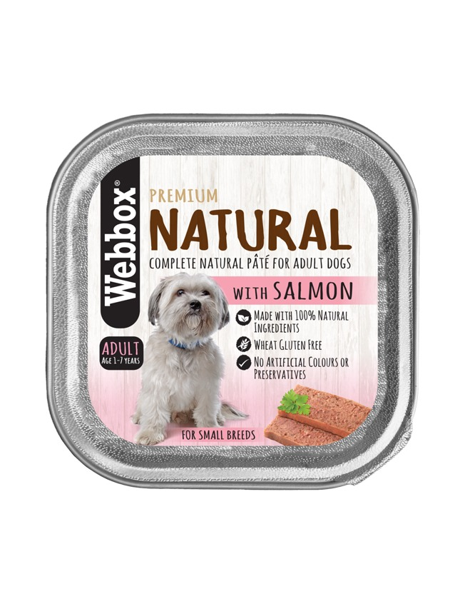 Webbox Natural Adult Salmon Pate Wet Dog Food – Single