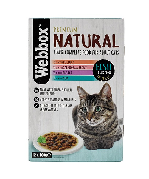 Webbox Natural Fish in Jelly Wet Cat Food