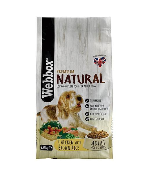 Webbox Naturals Chicken & Brown Rice Dry Dog Food