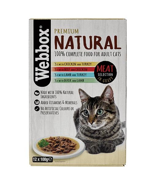 Webbox Natural Meat in Gravy Cat Pouches – Single