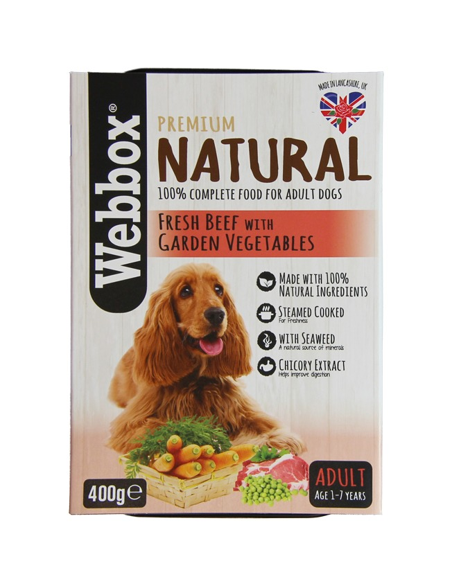Webbox Natural Adult Beef with Vegetables Dog Tray