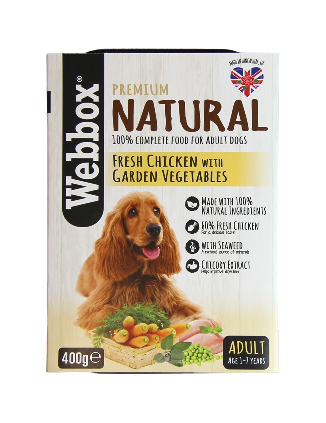 Webbox Natural Adult Chicken with Vegetables Dog Tray