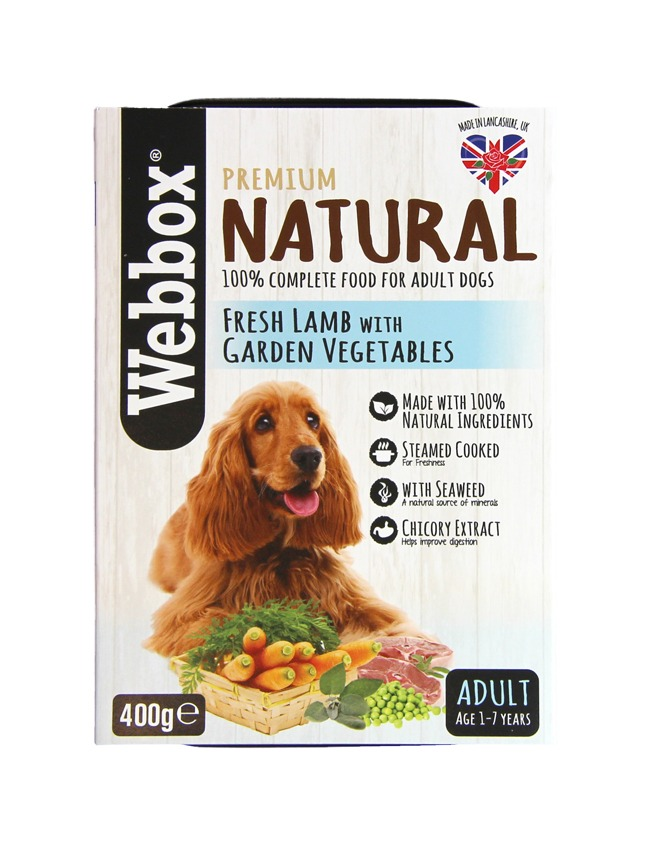 Webbox Natural Adult  Lamb with Vegetables Dog Tray