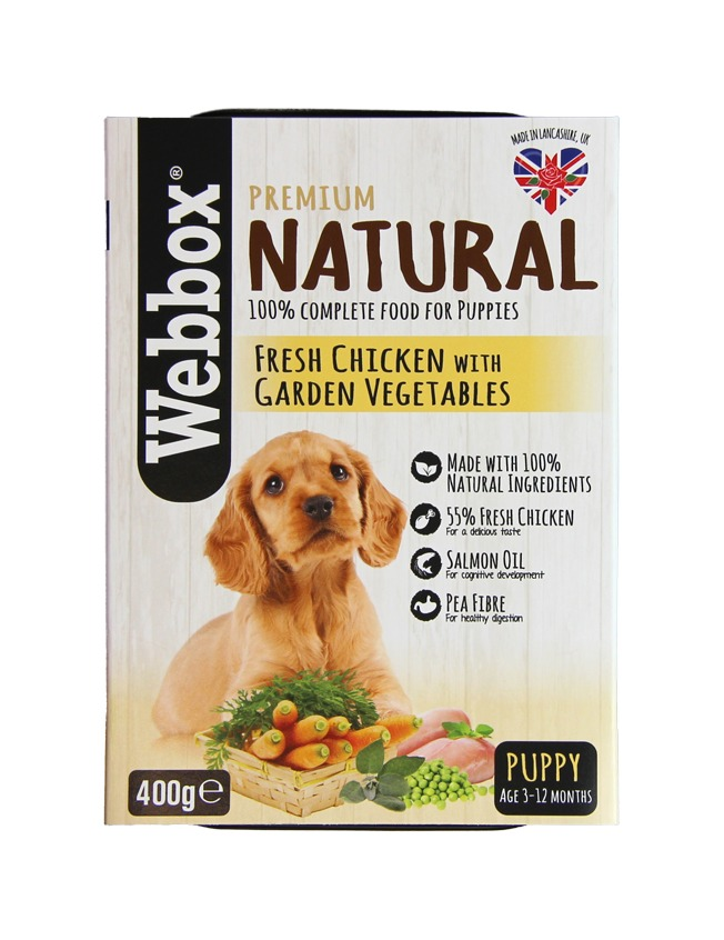 Webbox Natural Chicken with Vegetables Puppy Tray