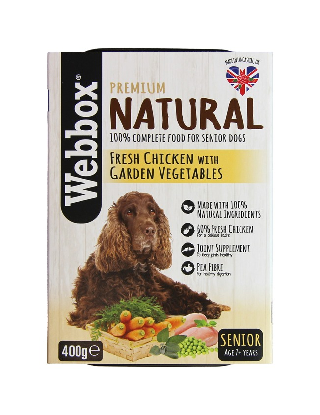 Webbox Natural Chicken & Vegetables Senior Dog Tray