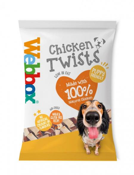 Webbox Chicken Twists Dog Treats