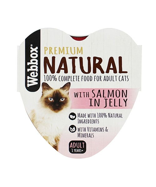 Webbox Natural Salmon in Jelly Wet Cat Food