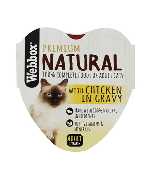 Webbox Natural Chicken in Gravy Wet Cat Food