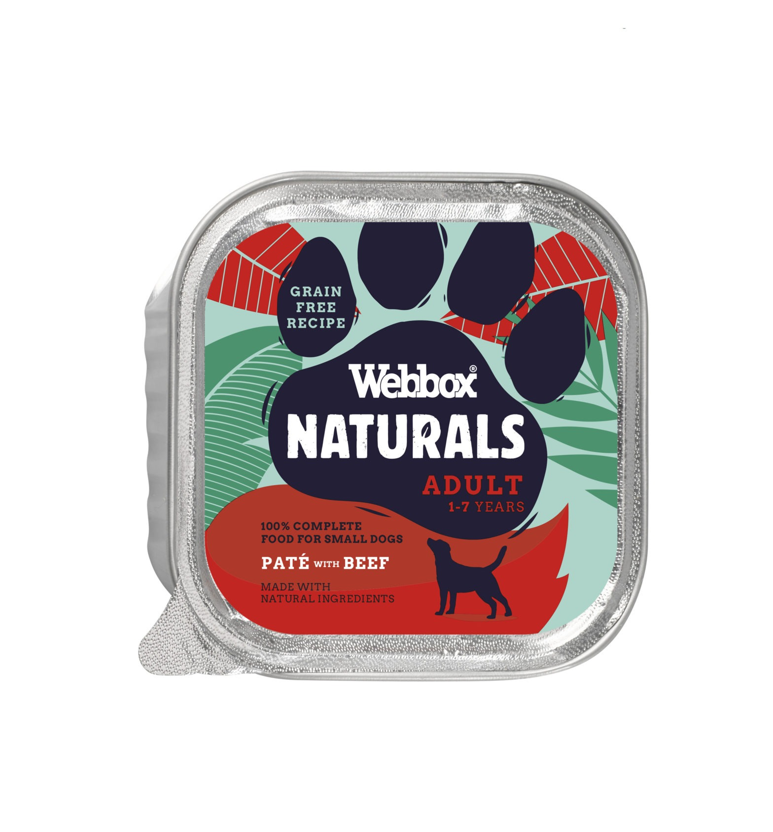Webbox Natural Adult Beef Pate Wet Dog Food