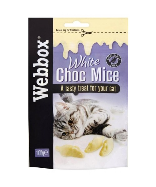Webbox White Choc Mice Cat Treats