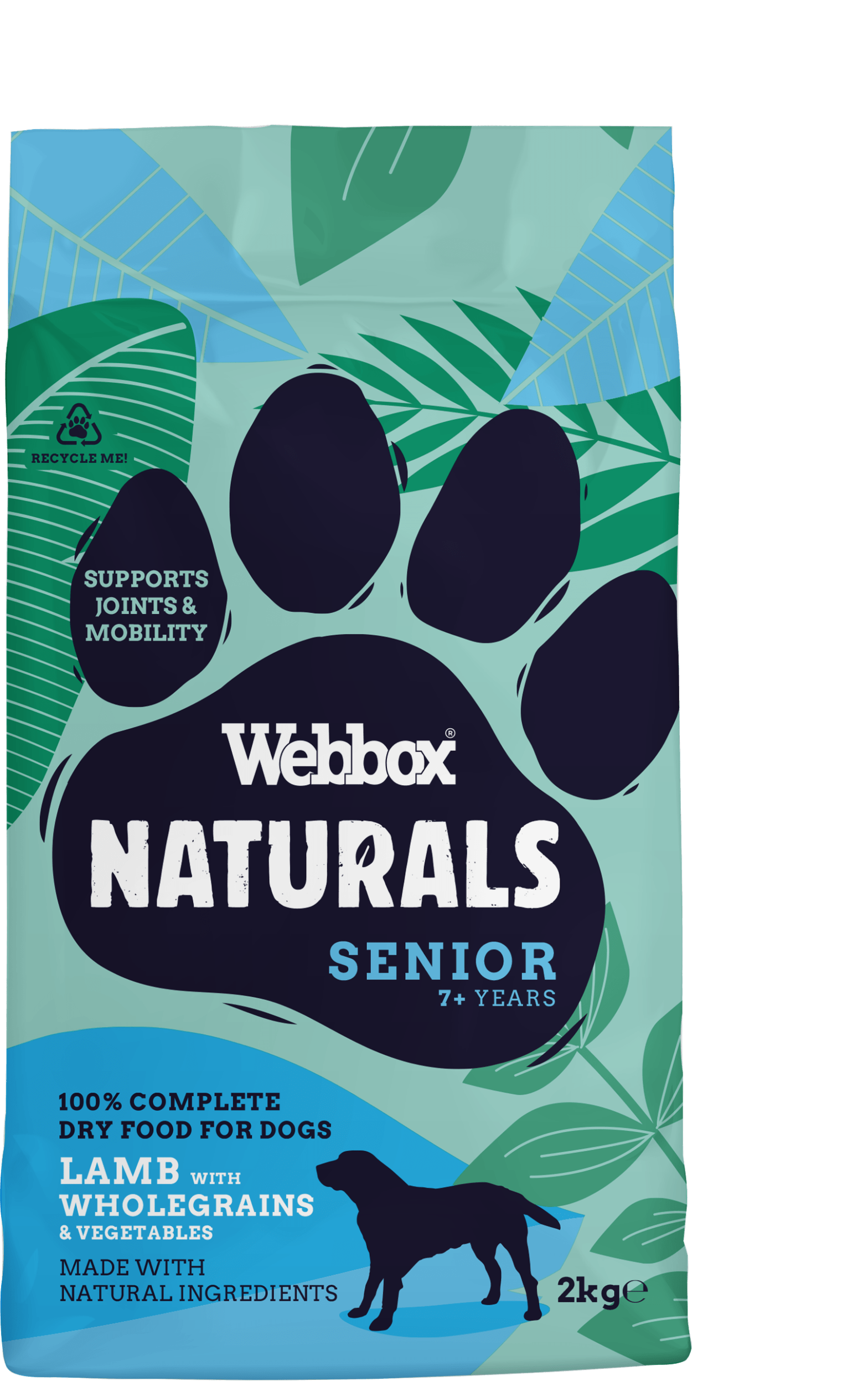 Webbox Natural Lamb & Brown Rice Complete Dry Senior Dog Food