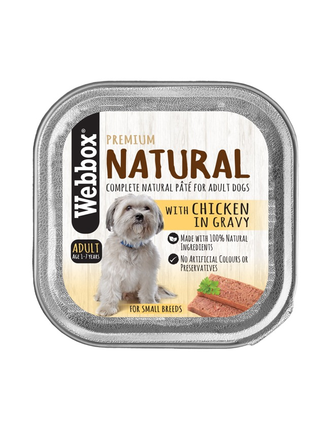 Webbox Natural Adult Chicken Gravy Pate Wet Dog Food – Single