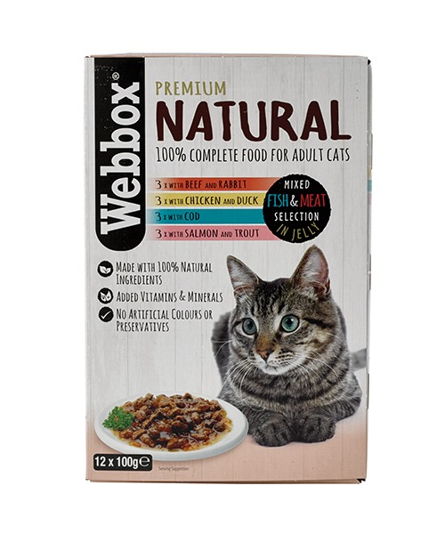 Webbox Natural Fish & Meat in Jelly Pouches – Single