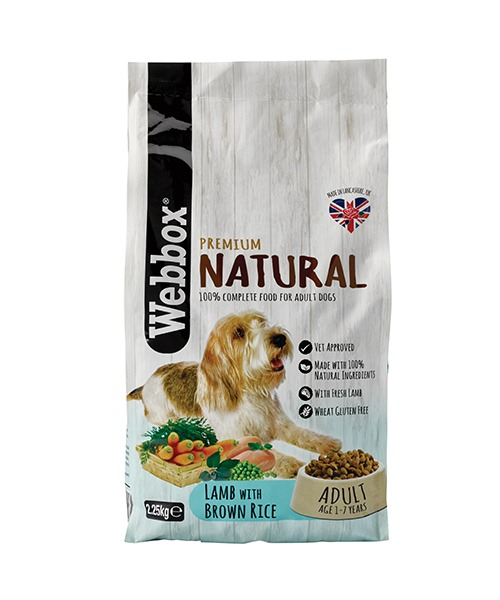 Webbox Natural Lamb & Brown Rice Complete Dry Dog Food – Single