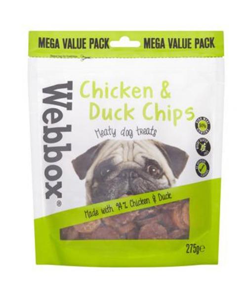 Webbox Bulk Chicken & Duck Chips Dog Treats