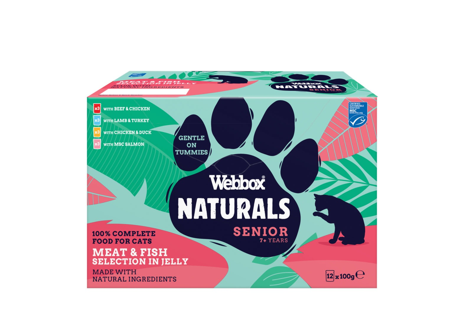 Webbox Naturals Senior Selection Jelly Wet Cat Food 7+