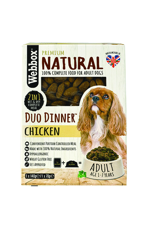 Webbox Natural Chicken Complete Dry & Wet Dog Food