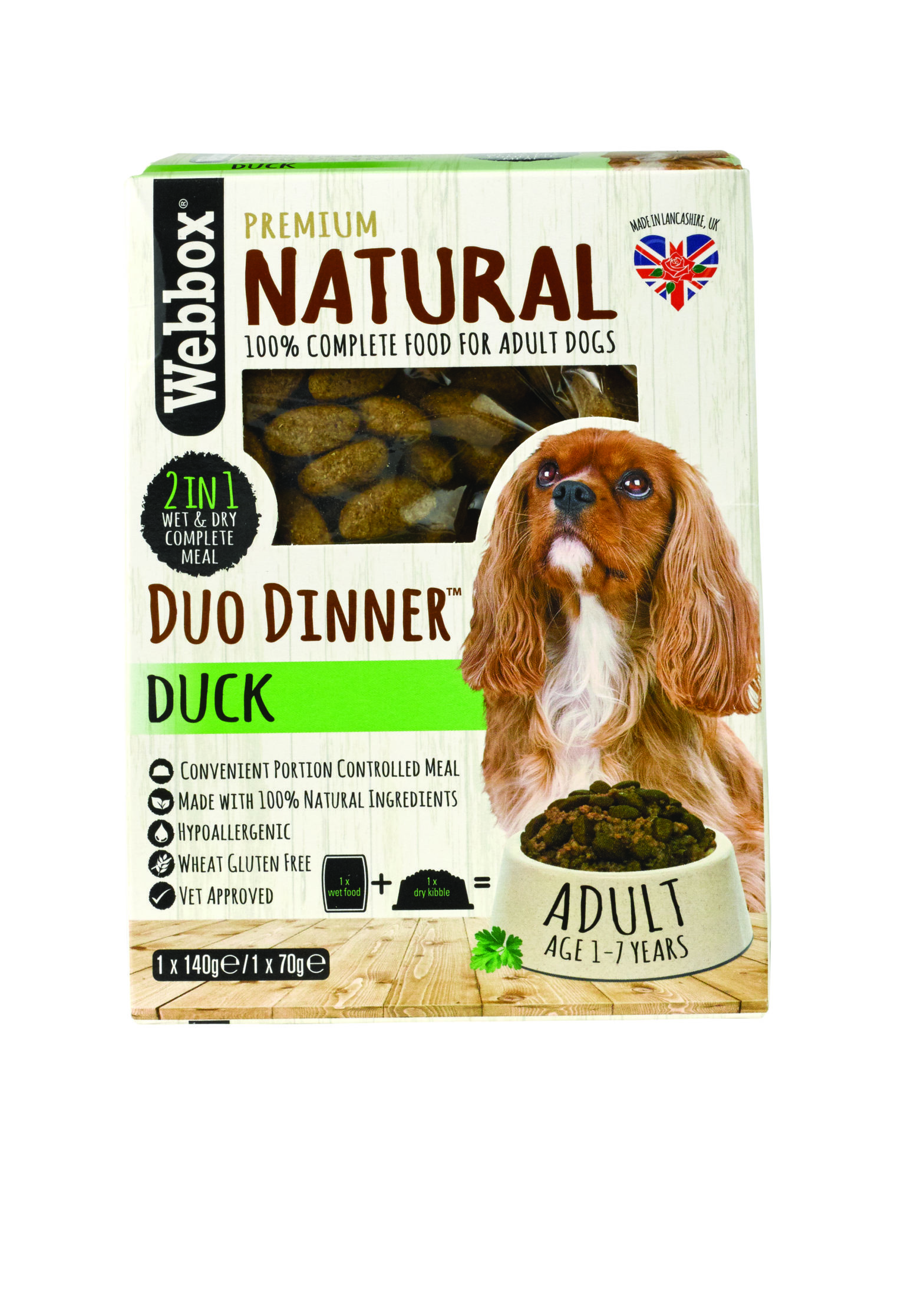 Webbox Natural Duck Complete Dry & Wet Dog Food