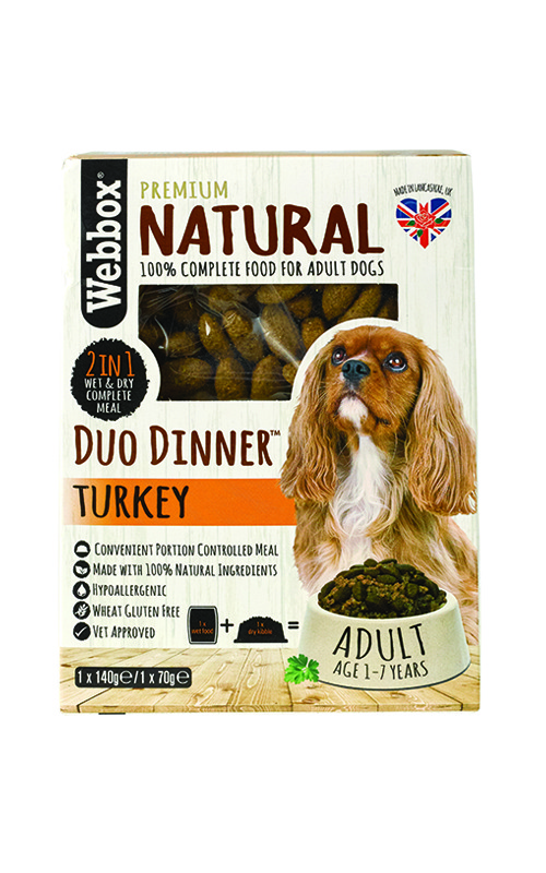 Webbox Natural Turkey Complete Dry & Wet Dog Food