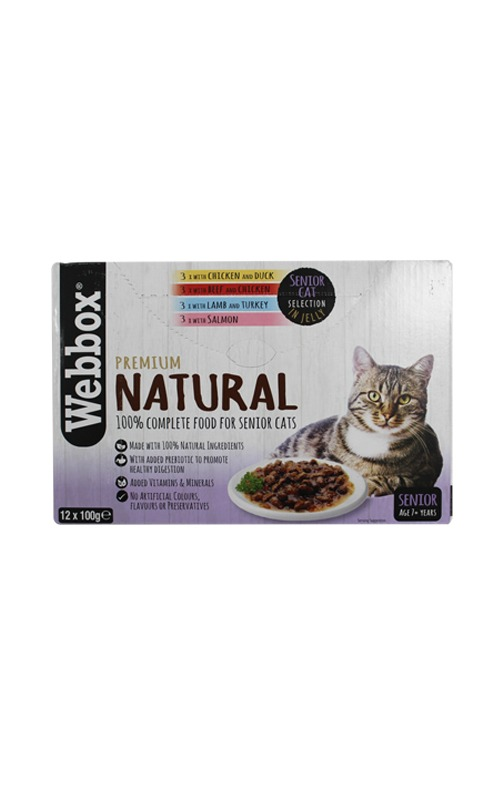 Webbox Natural Senior Selection Jelly Cat Pouches – Single