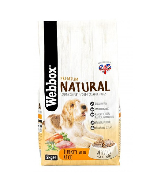 Webbox Natural Turkey & Rice Complete Dry Dog Food