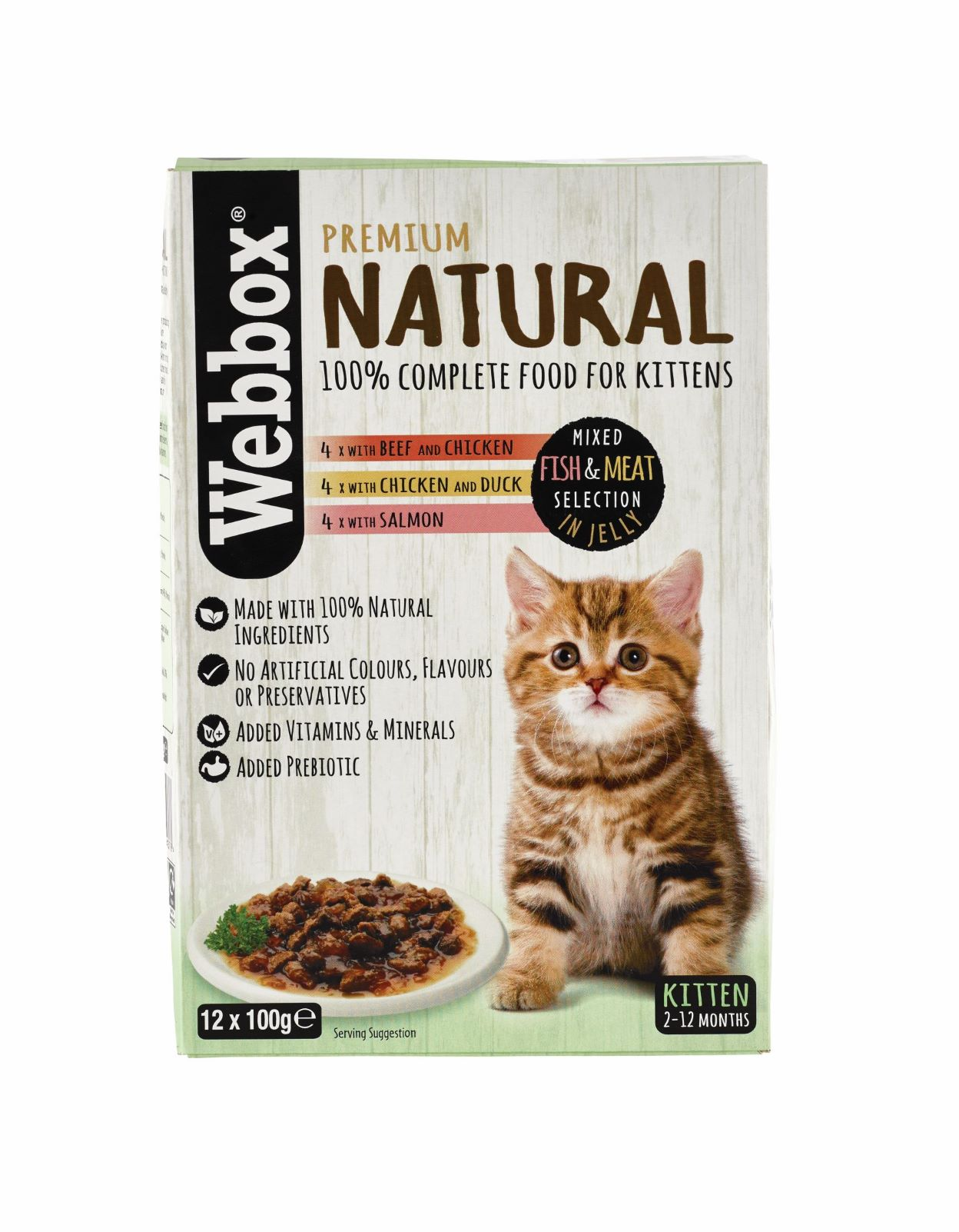Webbox Natural Kitten Selection Jelly Wet Cat Food
