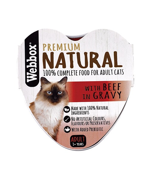 Webbox Natural Beef in Gravy Wet Cat Food