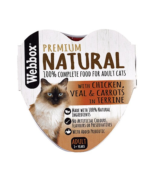 Webbox Natural Chicken, Veal & Carrots in Terrine Wet Cat Food