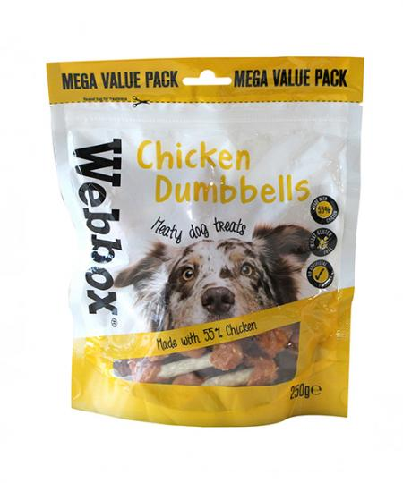 Webbox Bulk Chicken Dumbbells Dog Treats