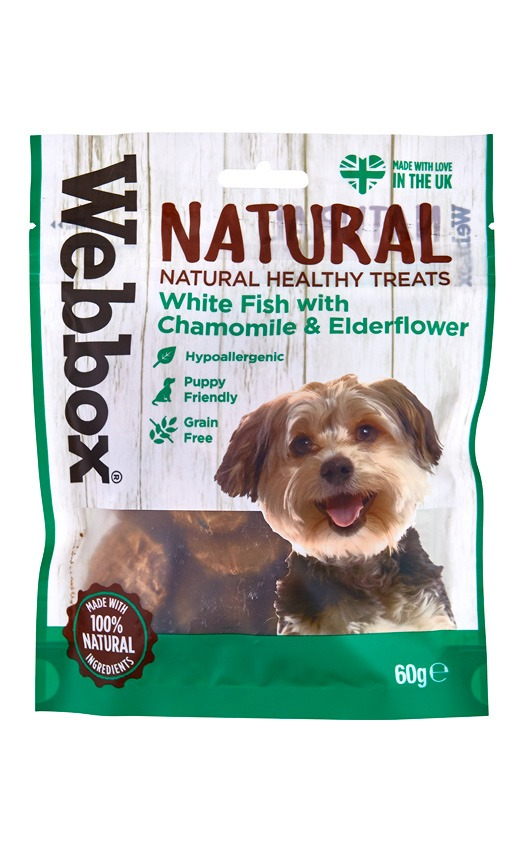 Webbox Natural White Fish with Chamomile & Elderflower Dog Treats