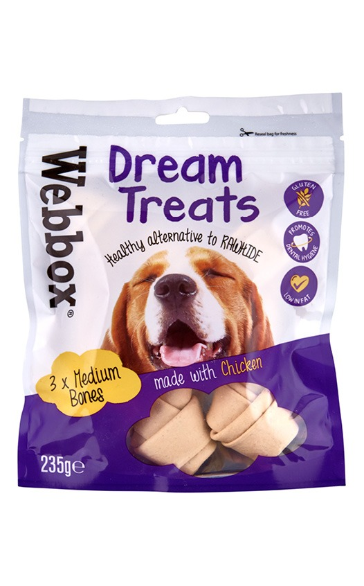Webbox Dream Dog Treats Medium Bones with Chicken