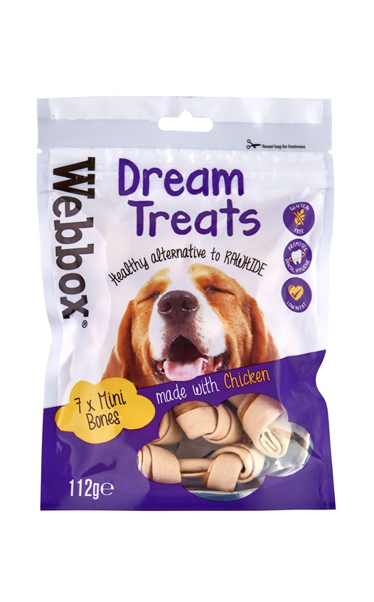 Webbox Dream Dog Treats Mini Bones with Chicken
