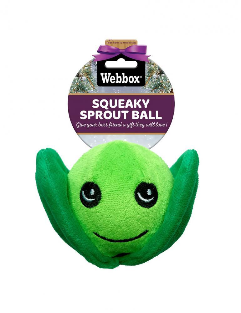Webbox Festive Squeaky Sprout Ball
