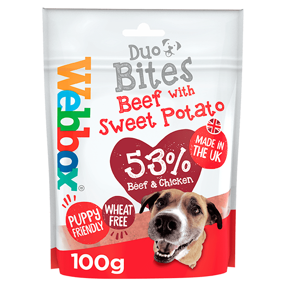 Webbox Duo Bites Beef with Sweet Potato Dog Treats