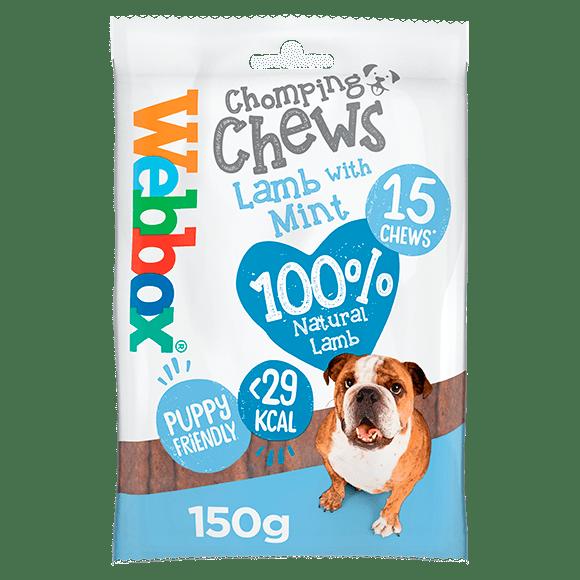 Webbox Chomping Chews Lamb with Mint Dog Treats